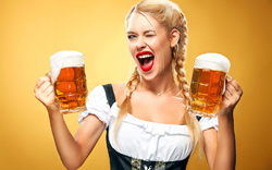 Woman-with-two-Beer-Mugs
